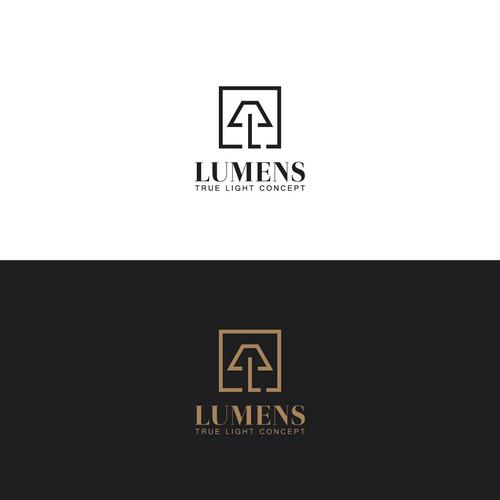 Luxury light store logo