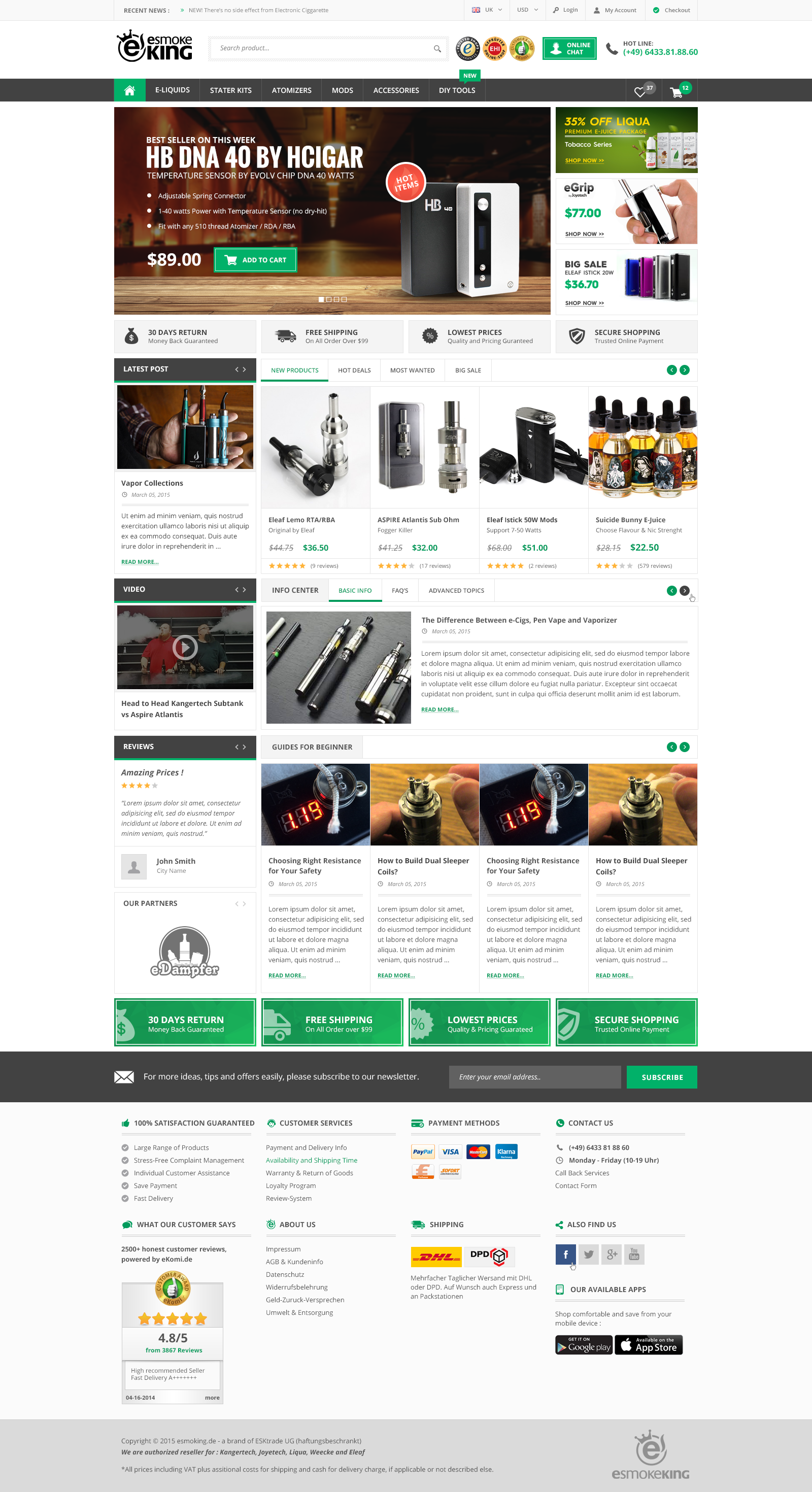 innovative redesign for webshop (2 pages only) - design only, no coding