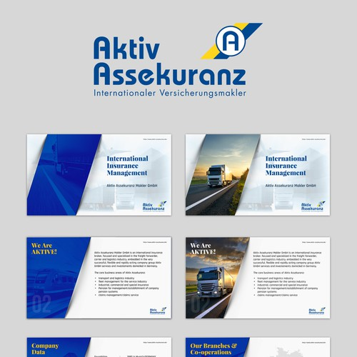 Presentation Template for Aktiv Assekuranz