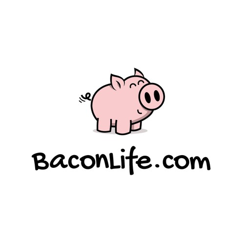 Happy piglet logo