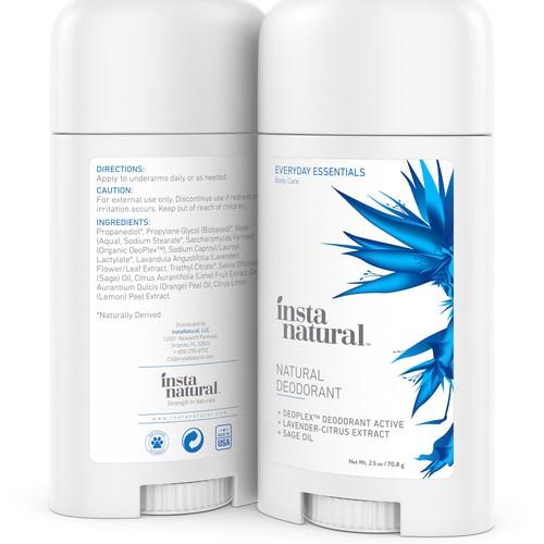 Natural Deodorant 3D Rendering
