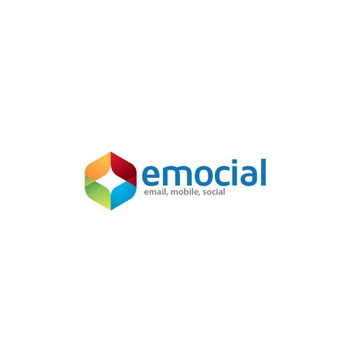 logo and business card for emocial
