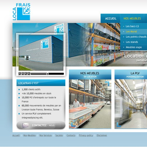 Web design for Loca Frais