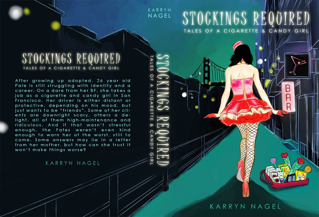 Design my Ebook and POD cover for Stockings Required-Tales of a Cigarette & Candy Girl