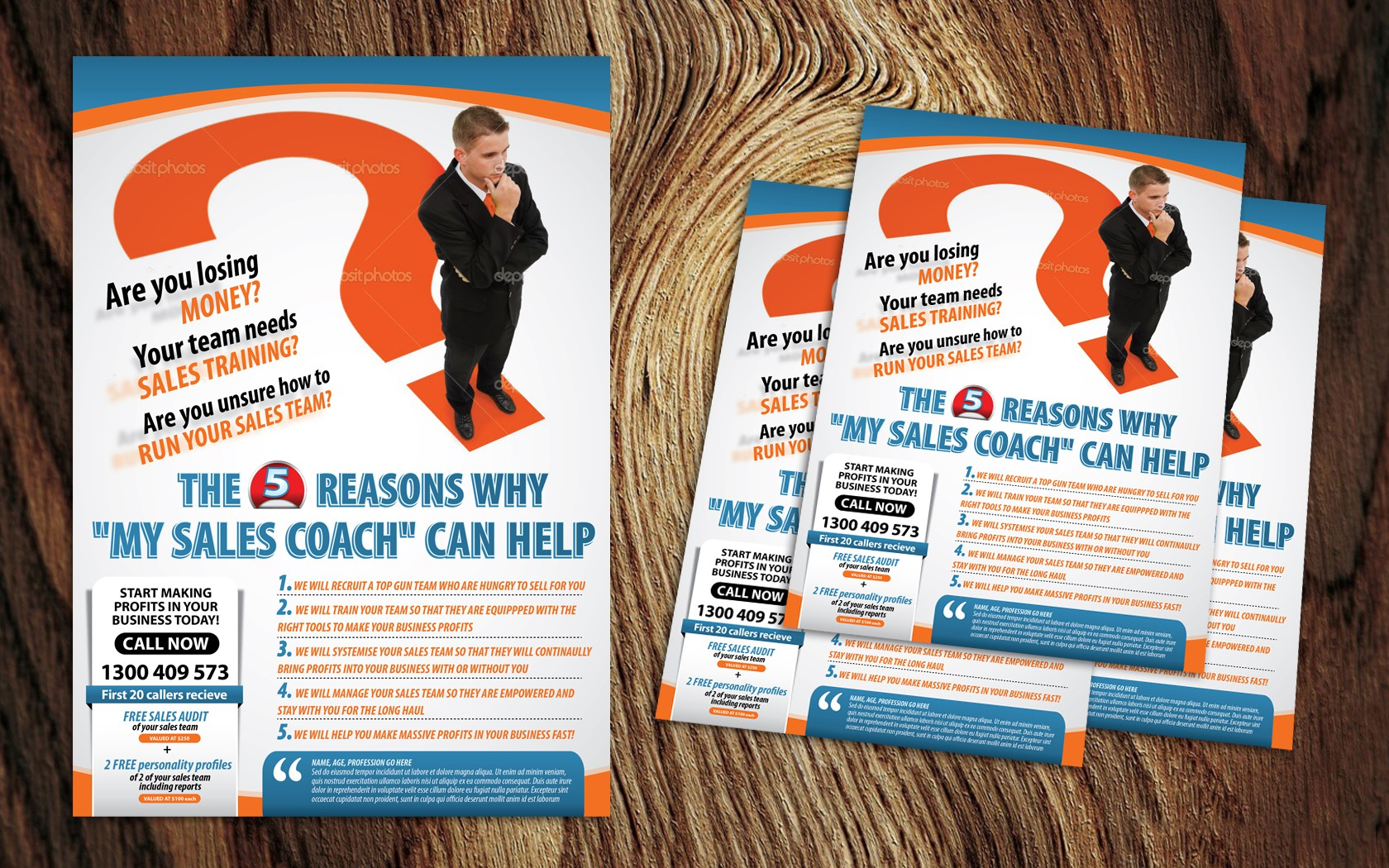 postcard or flyer for Affordable Coach