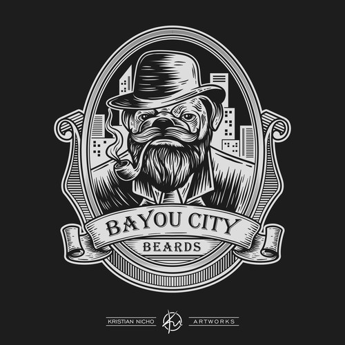 Logo design for Bayou City Beards