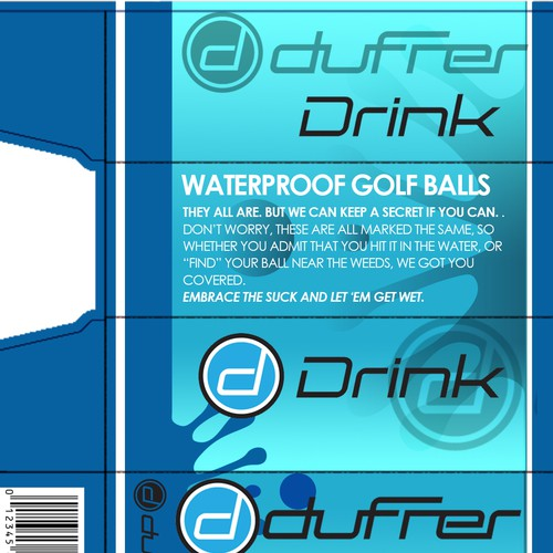 Package design for sleeve of golf balls