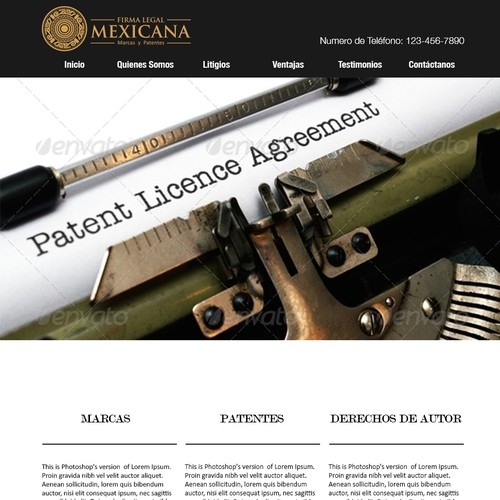 Create a great web site for a Law Firm specialized in Patent & Trademarks matters.