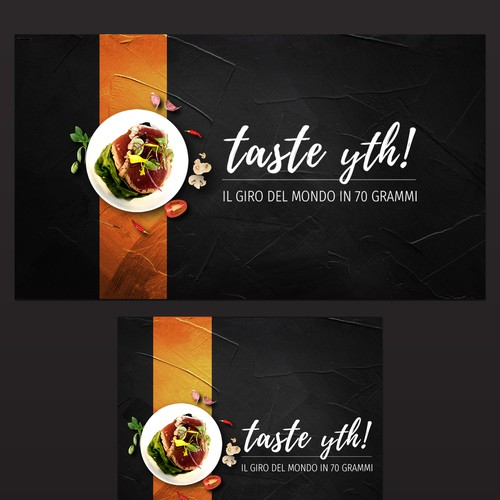 Banner design for tasting event