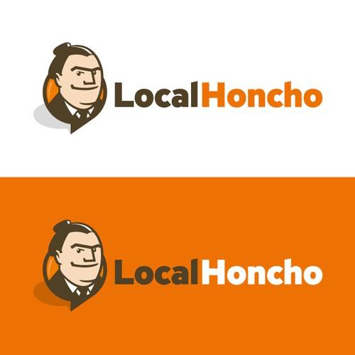 Kickass illustrated logo for local marketing company
