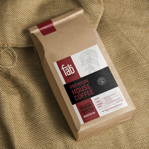 COFFEE LABEL- STAND OUT DESIGN