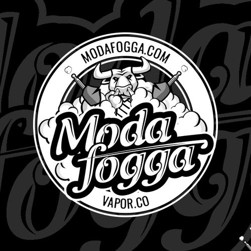 Logo for ModaFogga vapor company