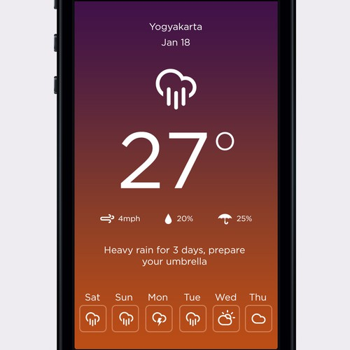 Design New Screens to Great Weather App