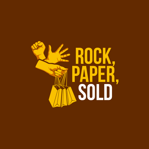 Design a logo for Rock, Paper, SOLD