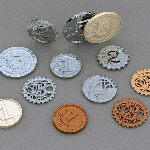 Steampunk Coin Tokens