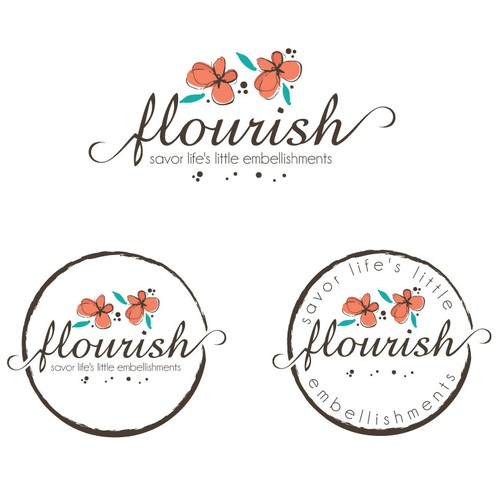 Feminine, flourish logo