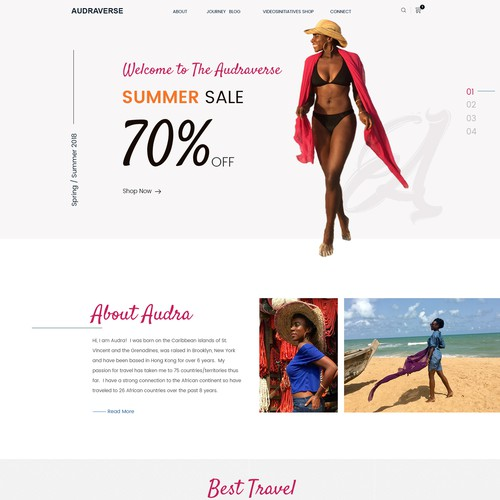 Design a colorful - travel, fashion, lifestyle webpage