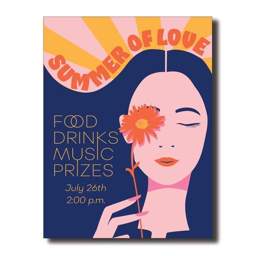 Summer of Love invite poster