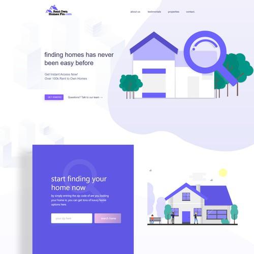 House rent website design