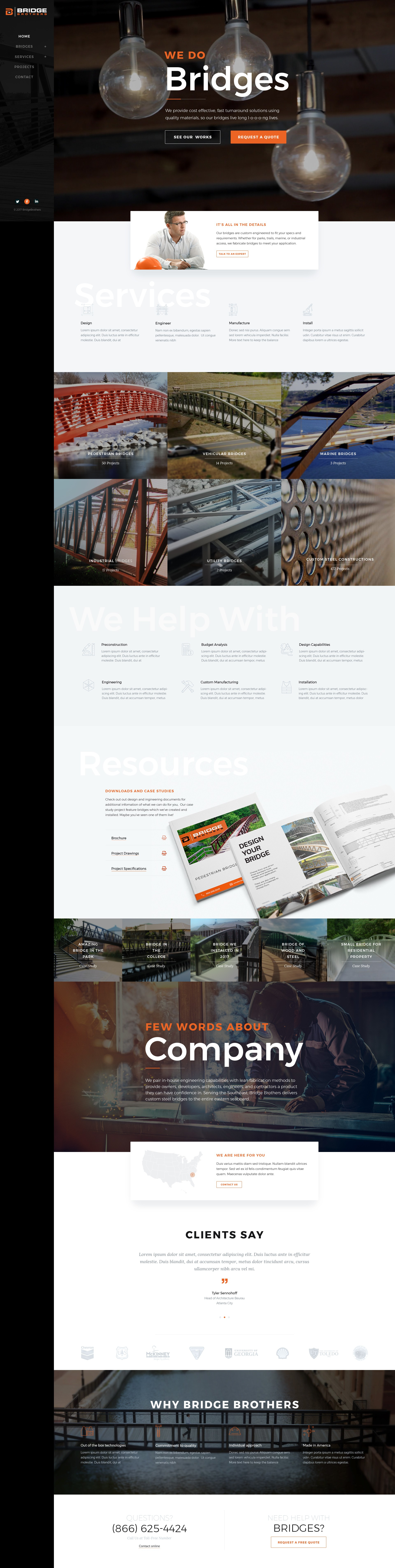 Bridge Brothers - Homepage Design