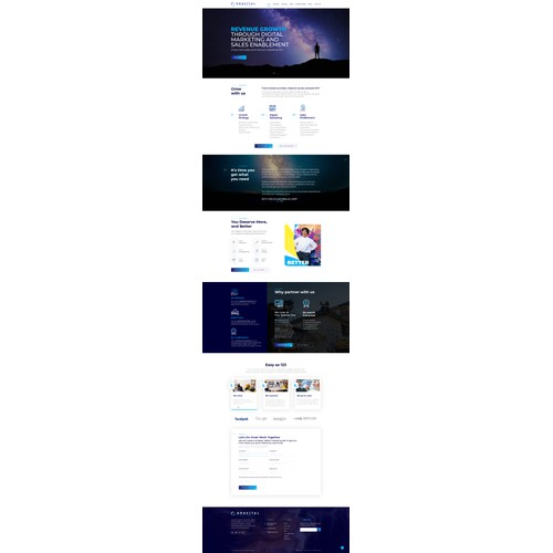 Gravital Homepage