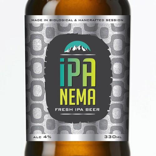 Creative IPA Beer Label