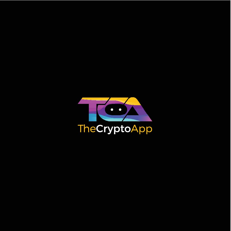 """Minimalist logo for """"TheCryptoApp"""" with over 2M downloads"""