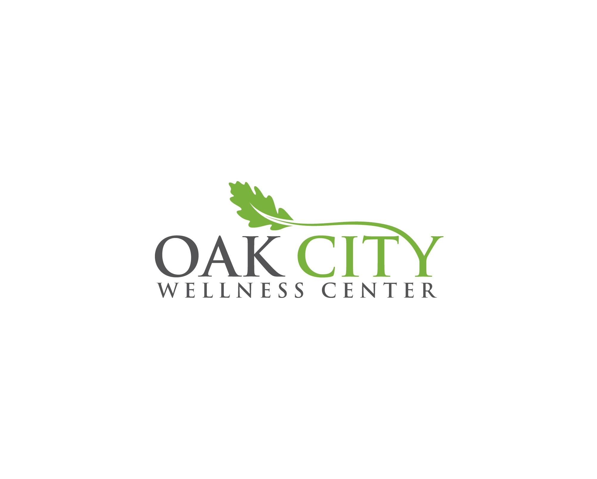 Design an oak tree logo for a new wellness center