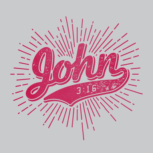 Hipster/College style t-shirt design featuring John 3:16