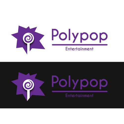 Create a cool logo for a Multimedia studio startup - Polypop Entertainment