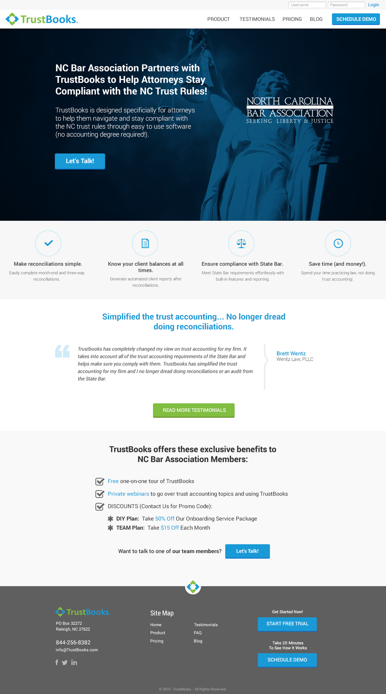 Landing Page Designs - NCBA & Let's Talk