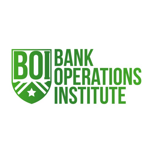 Winning design for Bank Operations Institute.