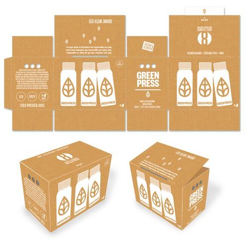 Green Press Cardboard Box