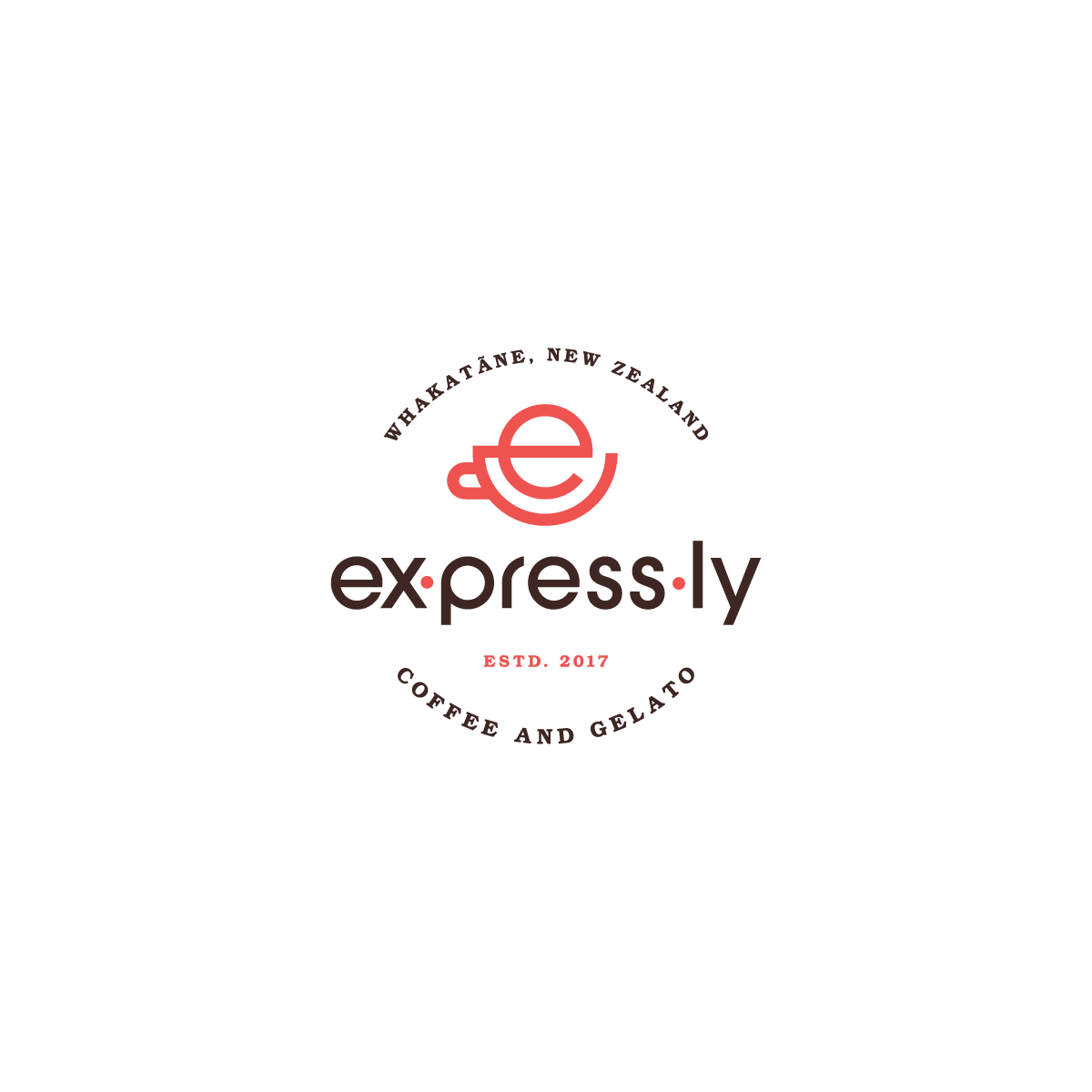 Design a cool logo for  ex·press·ly Coffee and Gelato