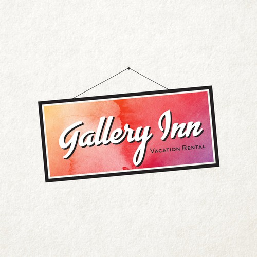 The Gallery Inn features original art and needs a stylized logo