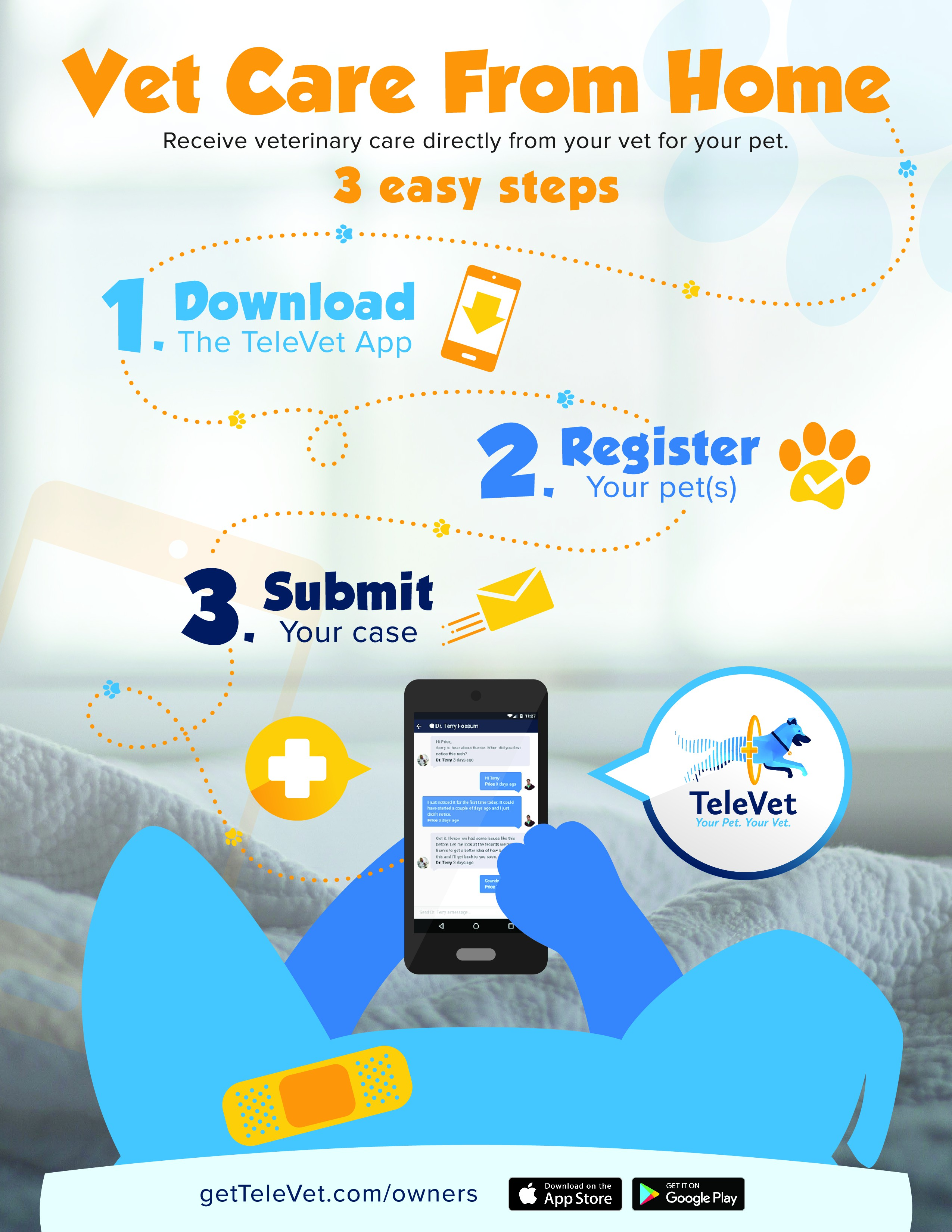 Create a fun design for TeleVet and help pets receive healthcare