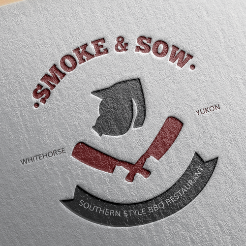 Smoke & sow logo design