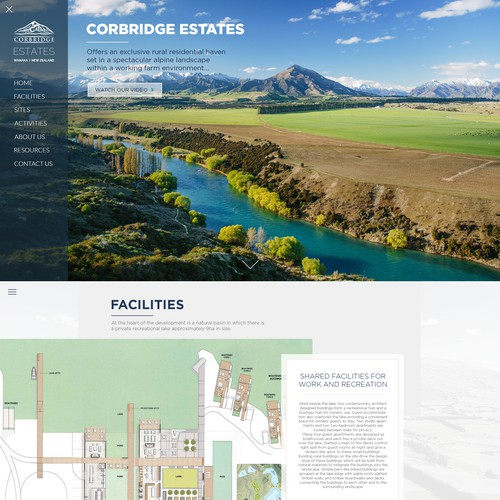 Web design for Corbridge Estates