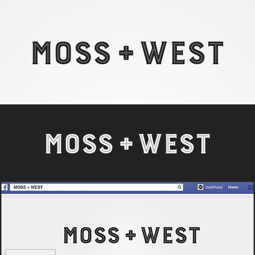 Winning entry for Moss + West Logo Contest