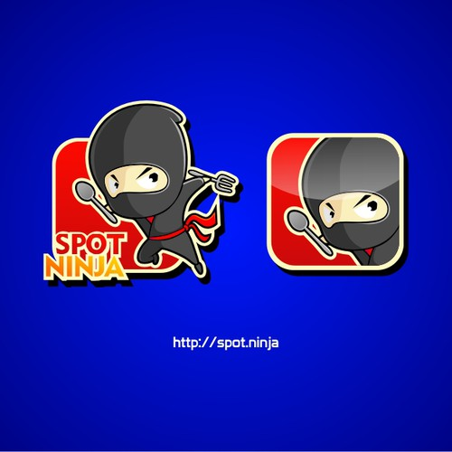 """Spot Ninja"" needs a character & logo for site that recommends whereto dine!"