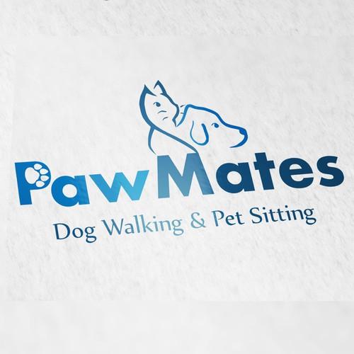 "Need logo for ""PawMates Dog Walking & Pet Sitting"" business!"