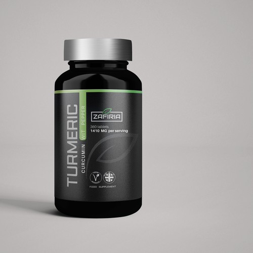 Modern & Bold supplement  Label  design