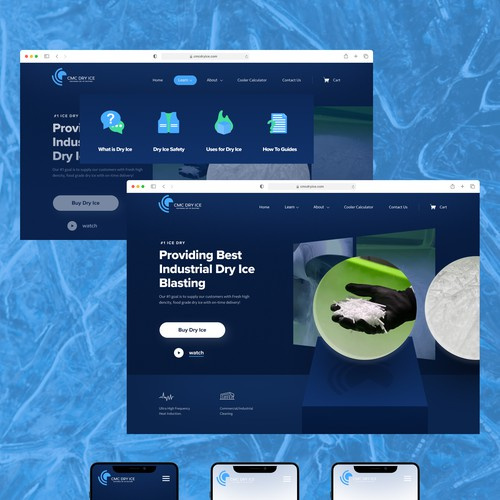 Homepage for dry Ice company