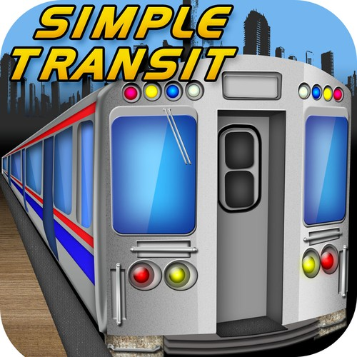 Create the next icon or button design for Simple Transit