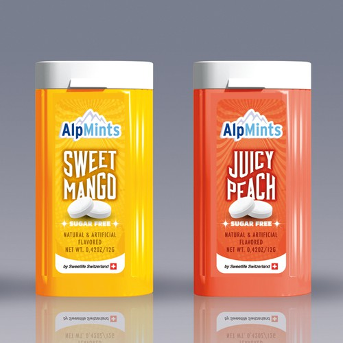 ALPMINTS Sugar Free Mints - Create Stunning Swiss ALPmints Logo &label design (small front pack)