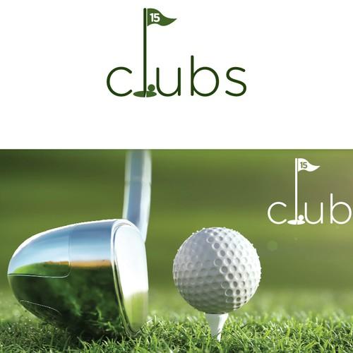 Golf logo club