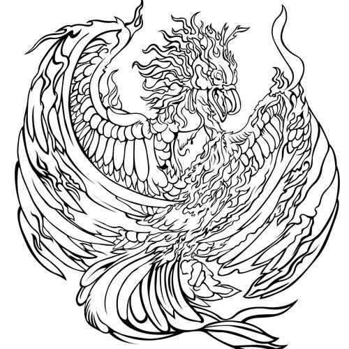 Pheonix Bird Tattoo Design