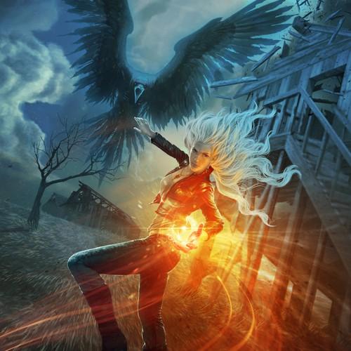 Cover Illustration for Ascending Mage