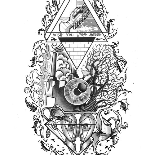 Pink Floyd inspired tattoo needed for Floyd!!