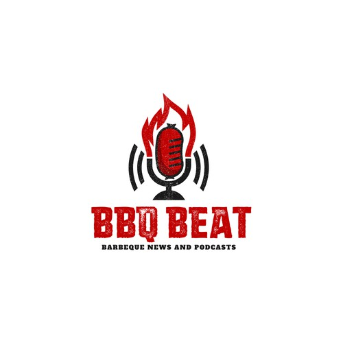 Logo for BBQ-themed podcast